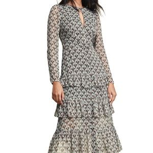 Alexis Art Deco Print Dress
